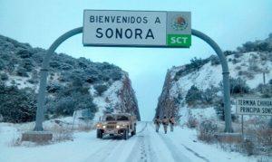Por nieve, cierran tránsito entre Sonora y Chihuahua