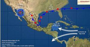 Frente frio 21 ocasionara nevadas y caída de aguanieve en el norte de México