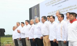 Gobernador Vila asiste a puesta en marcha del proyecto del Tren Maya