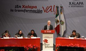 Hipólito Rodríguez, rinde Primer Informe como alcalde de Xalapa