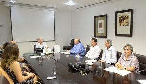 Recibe Núñez a magistrados del Tribunal de Justicia Administrativa