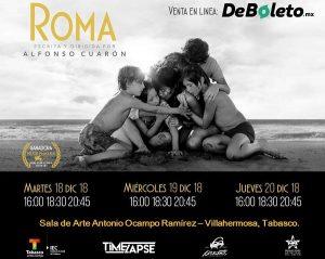 Inicia venta de boletos en Tabasco para la película Roma