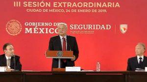 Encabeza López Obrador Sesión Extraordinaria del Consejo Nacional de Seguridad Pública