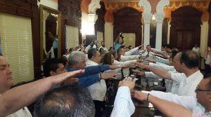Toma protesta Adán Augusto López Hernández a integrantes del gabinete