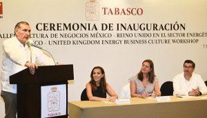 Acuerda gobernador de Tabasco con embajada británica, programas para la seguridad y la educación