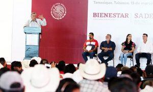 Programas sociales ayudarán a rescatar campo tabasqueño y zonas rurales: Adán Augusto