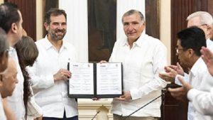 Signa Adán Augusto convenios de colaboración con el INE