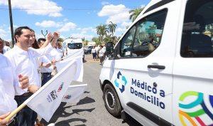 El Gobernador Mauricio Vila Dosal pone en marcha segunda etapa de Médico a Domicilio