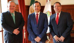Reiteran los tres poderes del estado acciones coordinadas para el bienestar de Veracruz