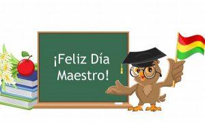 Felicidades: Día del Maestro