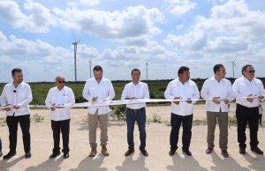 El Gobernador Mauricio Vila Dosal inaugura el Parque Eólico de Dzilam de Bravo