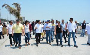 Gobernador, Sectur y PC realizan recorrido de seguridad previo al Salsa Fest en Boca del Río