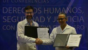 Firma FGE convenio de colaboración con el INACIPE en el marco del Ciclo de Conferencias de Derechos Humanos, Seguridad y Justicia