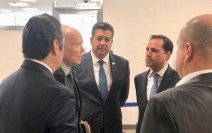El Gobernador Mauricio Vila Dosal asistió a reuniones sobre seguridad y justicia