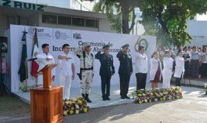 Realizan ceremonia de incineración y abanderamiento en la DACS de la UJAT