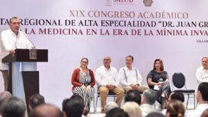 Anuncia Adán Augusto modernización de Hospitales de Alta Especialidad