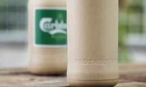 Crean botella de papel para cerveza