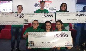 Ganan estudiantes de la UJAT en Expo Plan de Negocios Universitarios Canacintra