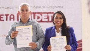 Injudet y Ayuntamiento de Macuspana, firman acuerdo por la juventud y el deporte