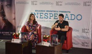 "Eduardo Verástegui y Soraya Pérez Munguía, presentaron en Tabasco, la película ""Inesperado"""
