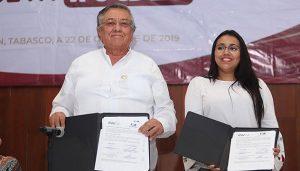 Signa convenio Injudet con Ayuntamiento de Balancán e ITSR