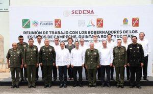 Gobernadores de la Península de Yucatán y Fuerzas Armadas acuerdan fortalecer coordinación de seguridad en la región