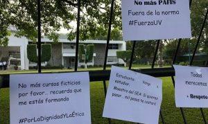 Estudiantes de UV Poza Rica, Veracruz protestan contra acoso