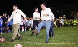 El Gobernador Mauricio Vila Dosal inaugura la Liga de Fútbol «Eric Díaz Palma»