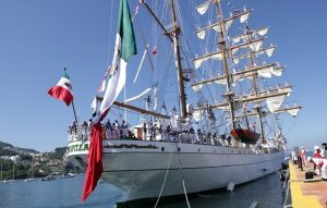 Llega a Acapulco el Buque Cuauhtémoc, tras recorrido por aguas europeas