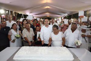 Un total de 430 parejas yucatecas formalizan su unión