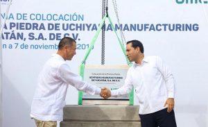 El Gobernador Mauricio Vila Dosal pone en marcha construcción de la planta de autopartes japonesa Uchiyama Manufacturing de Yucatán