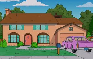 Google localiza la casa de Los Simpson