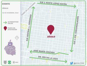 Listo el dispositivo de seguridad y vialidad por la Ceremonia del Primer Año de Gobierno del Presidente de México