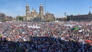 Acuden 250 mil al Zócalo por mensaje de AMLO: Secretaría de Seguridad de CDMX