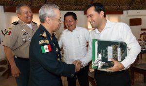 Coordinación con Fuerzas Armadas, factor fundamental para la seguridad de Yucatán: Gobernador Mauricio Vila Dosal