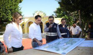 Supervisa el Gobernador Mauricio Vila Dosal últimos detalles de los trabajos mantenimiento y conservación del Centro Cultural La Ibérica