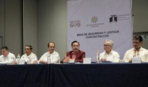 Encabeza Cuitláhuac García mesa de seguridad al sur de Veracruz; participan empresarios