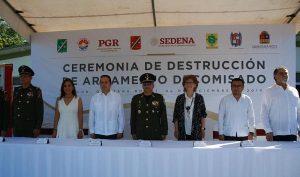 Participa Yucatán en aseguramiento y destrucción de casi 400 armas de fuego en Cancún