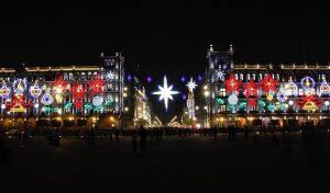 Encienden alumbrado navideño en Zócalo de la CDMX