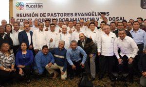 Líderes evangélicos en Yucatán respaldan trabajo del Gobernador Mauricio Vila Dosal