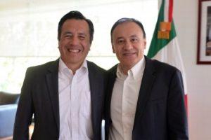 Se reúne gobernador de Veracruz y el secretario de Seguridad, Alfonso Durazo