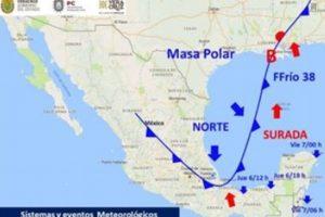 Emiten aviso especial por evento de norte y frente frío en Veracruz