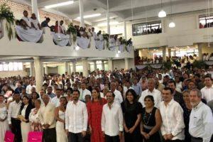 Se casan 960 parejas en bodas colectivas de Veracruz