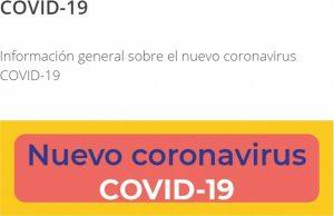 Gobierno lanza plataforma de información sobre el coronavirus