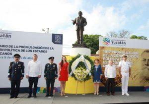 Yucatán conmemora el 103 aniversario de la promulgación de la Carta Magna