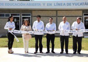 El Gobernador Mauricio Vila Dosal inaugura el Centro de Educación en Línea de Yucatán