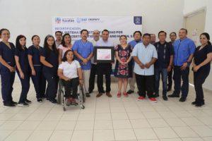 Reconocen excelencia de los servicios del Centro Regional de Órtesis, Prótesis y Ayudas Funcionales