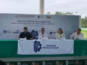 Firman convenio el Tecnologico Campus Chontalpa con API Dos Bocas, IEMX, Pantrans y OceaMar