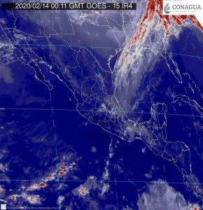 Se pronostican lluvias muy fuertes en Chiapas y fuertes en Oaxaca, Puebla, Tabasco y Veracruz, durante las próximas horas