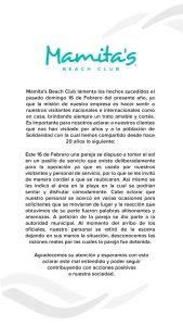 El empresario Jorge Marzuca de Playa Mamita's, da su versión y se deslinda de la expulsión violenta de una pareja de turistas